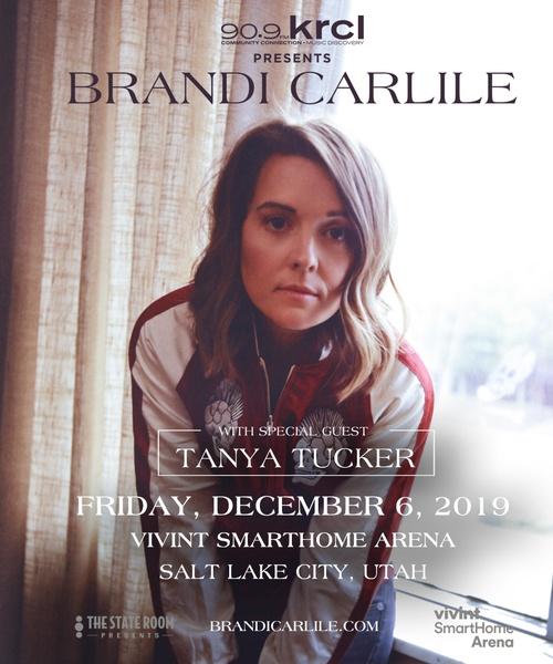 Just Announced: Brandi Carlile with Tanya Tucker Dec 6 at Vivint Smarthome Arena