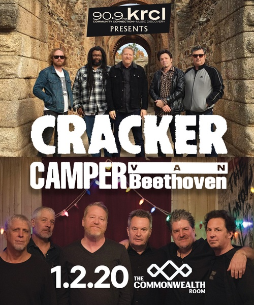 KRCL Presents: Cracker & Camper Van Beethoven Jan 2 at The Commonwealth Room