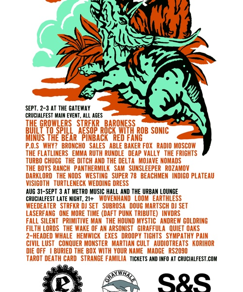 Crucialfest 7: Two-day Outdoor Music Festival Sept 2 - 3 at The Gateway