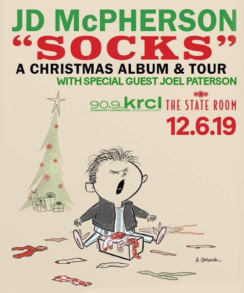JD McPherson Socks: A Rock n Roll Christmas Tour at The State Room Dec 6