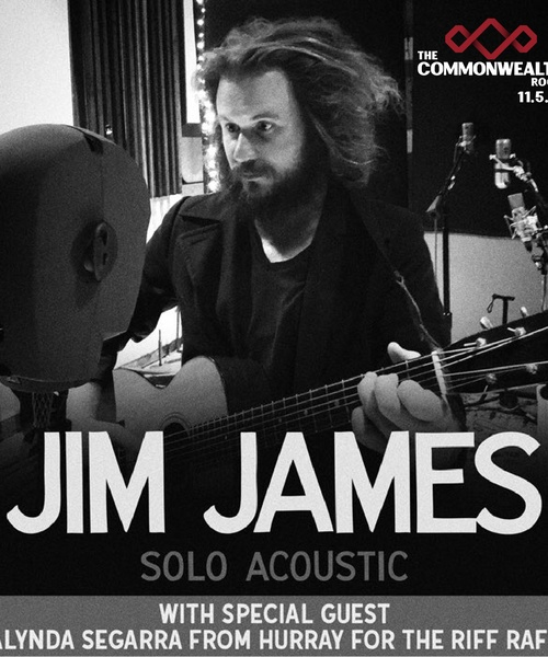 Jim James Solo Tour to The Commonwealth Room on Nov 5