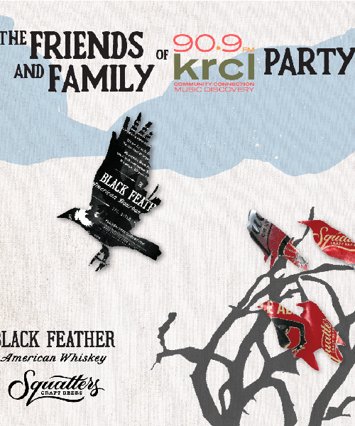 Friends and Family of KRCL Party with Black Feather Whiskey