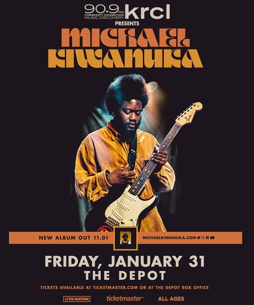 KRCL Presents: Michael Kiwanuka at The Depot Jan 31