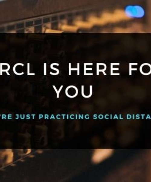 KRCL is here for you. We're just practicing social distancing