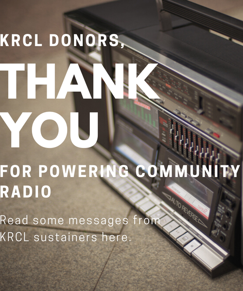 Thank you messages from the KRCL community